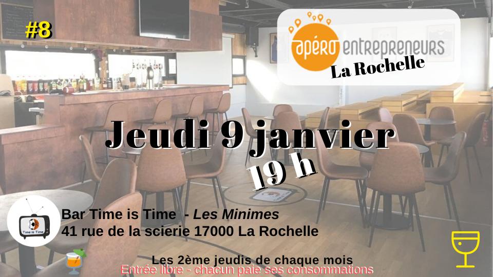 Apéro entrepreneurs le 9 Janvier à La Rochelle