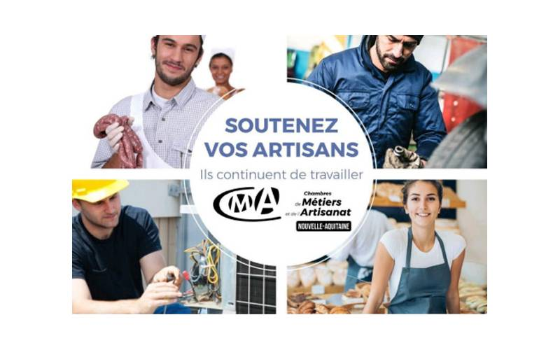 Covid-19 : la Chambre des Métiers de Charente-Maritime invite les artisans qui maintiennent une activité à se faire connaître