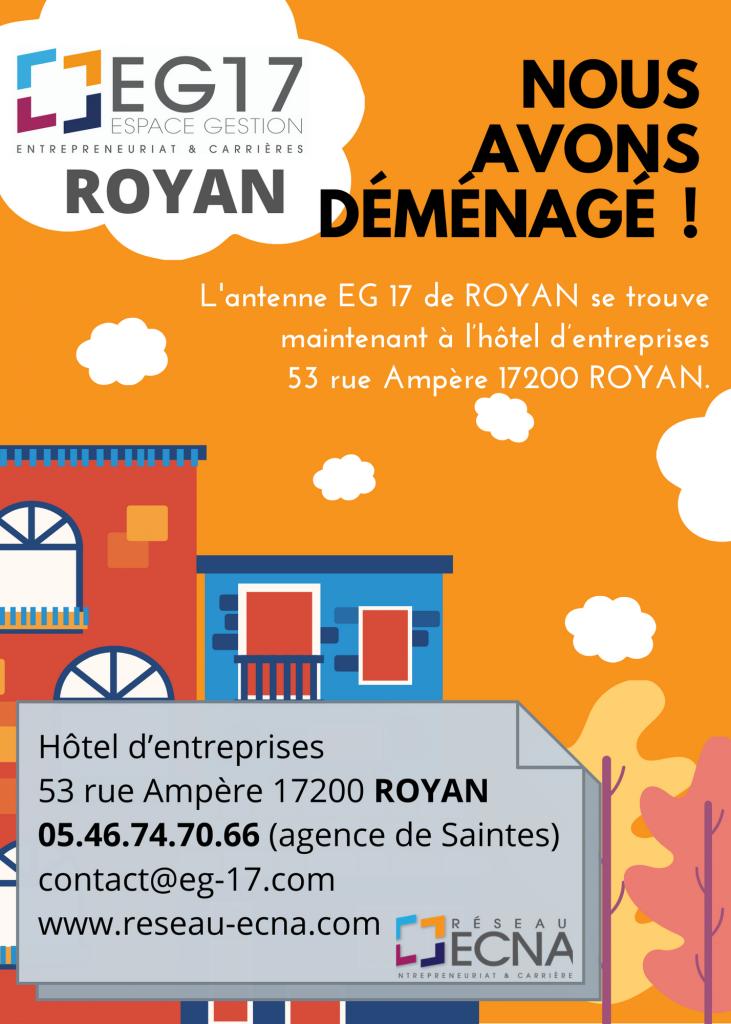 Déménagement de l'Antenne EG 17 de Royan