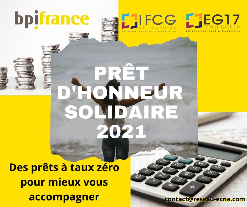 Prêt d'honneur solidaire à taux zéro 2021- EG17 et IFCG